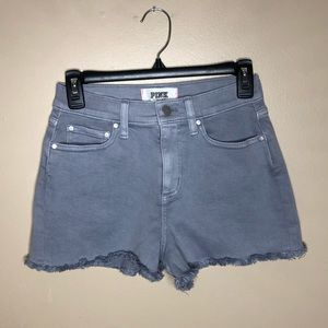 PINK Victoria's Secret Grey Denim Shorts